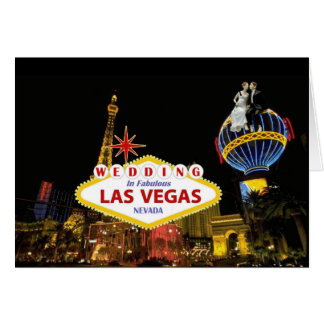 Wedding In Fabulous Las Vegas  with Bride & Groom  Card