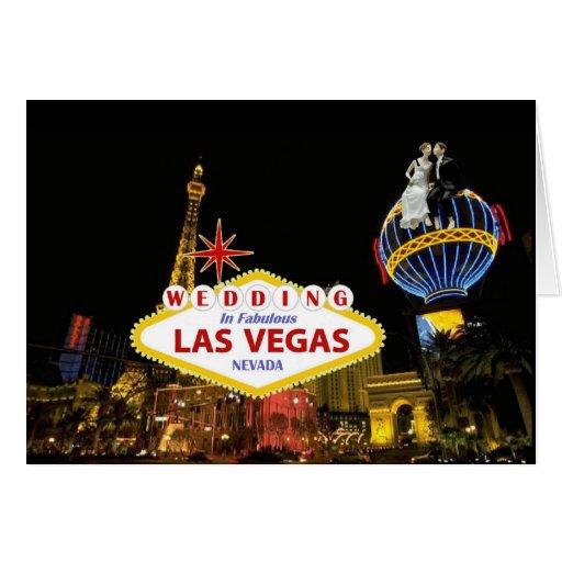 Wedding In Fabulous Las Vegas  with Bride & Groom  Greeting Cards