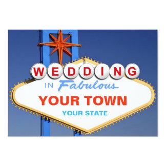 Wedding in Las Vegas 13 Cm X 18 Cm Invitation Card