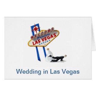 Wedding in Las Vegas, Bride dragging Groom Card