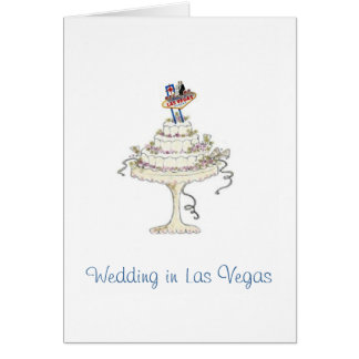 Wedding in Las Vegas Bride & Groom, Cake Card