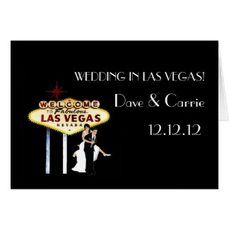 WEDDING IN LAS VEGAS! Card