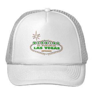 WEDDING IN LAS VEGAS GREEN LOGO HAT