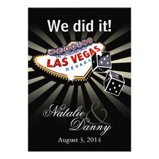 Wedding in Las Vegas Reception Party Personalised Invite