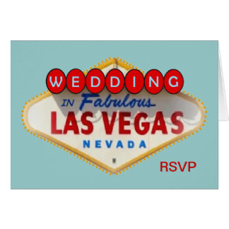 Wedding in Las Vegas RSVP Card