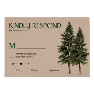 Wedding in the Woods RSVP Card