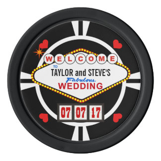 Wedding in Vegas Casino Favor Poker Chips