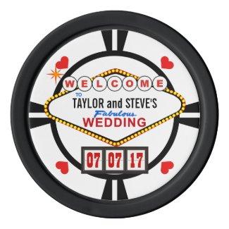 Wedding in Vegas Poker Chips