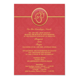 Wedding Indian Style Flat Invitation