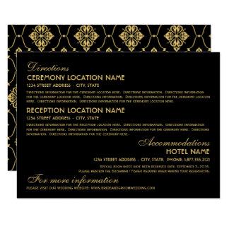 Wedding Information Card   Art Deco Elegant Style 11 Cm X 16 Cm Invitation Card