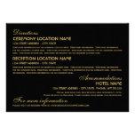 Wedding Information Card   Art Deco Elegant Style Personalised Invites