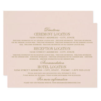 Wedding Information Cards | Antique Gold