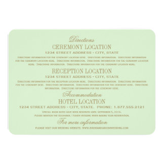 Wedding Information Cards | Antique Gold 11 Cm X 16 Cm Invitation Card