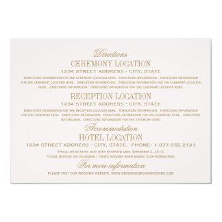 Wedding Information Cards   Antique Gold 11 Cm X 16 Cm Invitation Card