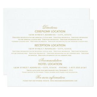 Wedding Information Cards   Gold Vintage Glamour