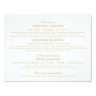 Wedding Information Cards   Gold Vintage Glamour 11 Cm X 14 Cm Invitation Card