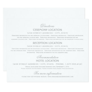Wedding Information Cards | Silver Vintage Glamour