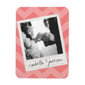 Wedding Instagram Photo Retro frame Custom Text Rectangular Photo Magnet