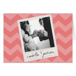 Wedding Instagram Photo Retro frame Custom Text Greeting Card