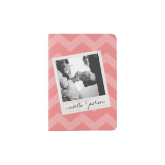 Wedding Instagram Photo Retro frame Custom Text Passport Holder