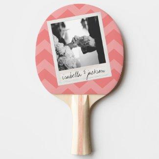 Wedding Instagram Photo Retro frame Custom Text Ping Pong Paddle
