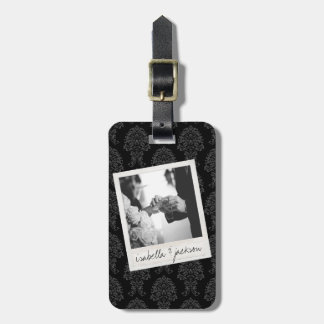 Wedding Instagram Photo Retro frame Custom Text Tags For Luggage