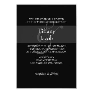 "Wedding Invitation | 1&1 |bl 5"" X 7"" Invitation Card"