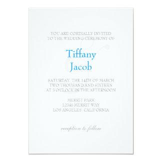 "Wedding Invitation | 1&1 |wt 5"" X 7"" Invitation Card"