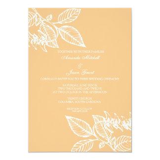 "Wedding Invitation | A Leaftime II |pe 5"" X 7"" Invitation Card"