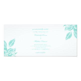 "Wedding Invitation | A Leaftime III |wt 4"" X 9.25"" Invitation Card"