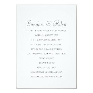 "Wedding Invitation | 'All In A Name' IV |w 5"" X 7"" Invitation Card"