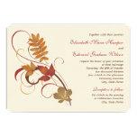 Wedding Invitation   Autumn Fall Leaves