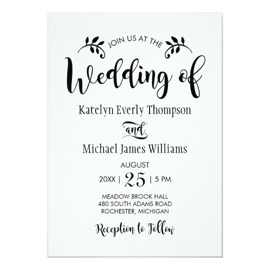 Wedding Invitation | Black Script