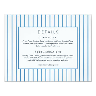 Wedding Invitation *Blue Garden* Details Card
