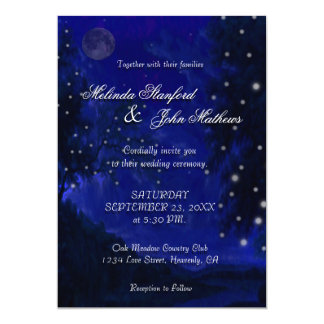 Wedding Invitation | Blue Romantic Night