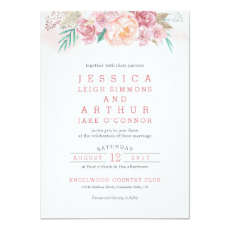 Wedding Invitation | Blush and Blooms