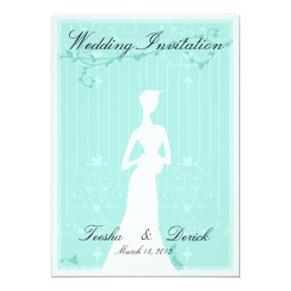 Wedding Invitation card (contemporarily blue)