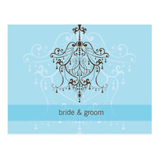 WEDDING INVITATION :: chandelier Postcard