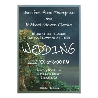 Wedding Invitation Country Evening Stars