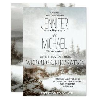 Wedding Invitation Country Snow