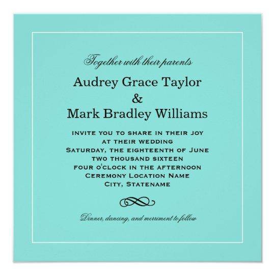 Wedding invitation design aqua blue zazzle wedding invitation design aqua blue stopboris Image collections
