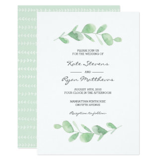 Wedding Invitation | Eucalyptus garden watercolor