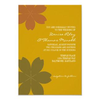 "Wedding Invitation | Fall Flowers |go 3.5"" X 5"" Invitation Card"