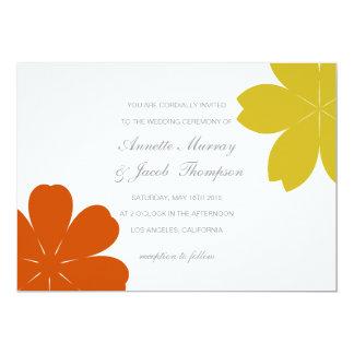 "Wedding Invitation | FALLing Leaves |wh 5"" X 7"" Invitation Card"