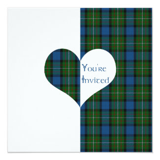 Wedding Invitation Ferguson of Atholl Tartan Heart