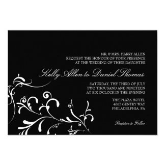 Wedding Invitation Floral Grace blw