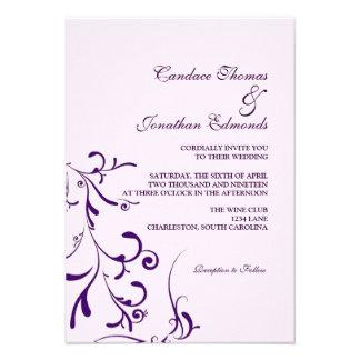 Wedding Invitation Floral Grace III lavp
