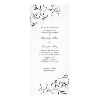 Wedding Invitation Floral Splash wb