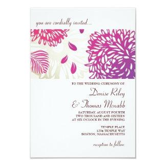 "Wedding Invitation | Florally |wp 3.5"" X 5"" Invitation Card"