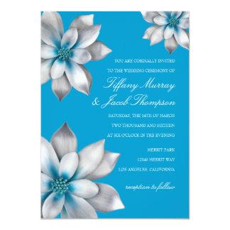 "Wedding Invitation | Flowered I |bl 5"" X 7"" Invitation Card"